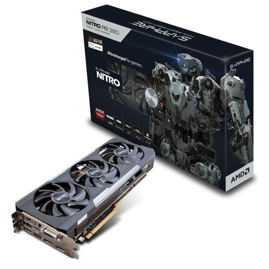Sapphire Nitro R9 390 TRI-X 8GB GDDR5  DVI-D HDMI 3x DisplayPort PCI-E Graphics Card