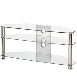"MMT JET MMT-CL1150 CLEAR GLASS CORNER TV STAND FOR UP TO 55"" SCREENS Reviews"