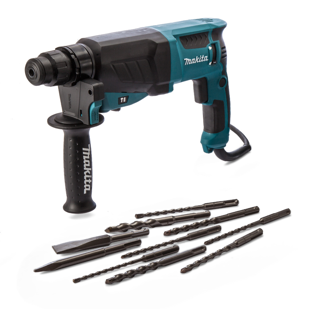 makita hr2630 rotary hammer sds 26mm rotary hammer drill 3 mode 26mm with accessories 240v. Black Bedroom Furniture Sets. Home Design Ideas
