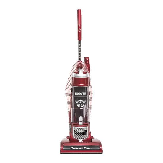 Hurricane Power VR81 HU01 Upright Bagless Vacuum Cleaner - Red & Silver