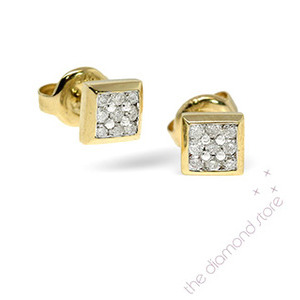 Photo of 9K Stud Earrings 0.25CT Diamond Jewellery Woman