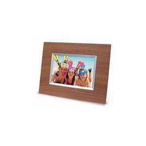 "Photo of LOGIK 7"" (3.2) WOOD Digital Photo Frame"