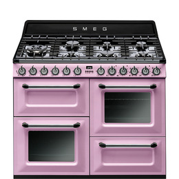 SMEG TR4110RO 110 cm Dual Fuel Range Cooker Pink Reviews