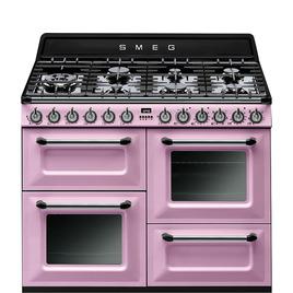 SMEG TR4110RO 110 cm Dual Fuel Range Cooker Pink