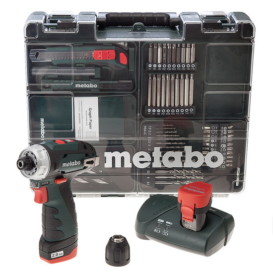Metabo 6.00080.88 PowerMaxx BS Basic Drill Driver Mobile Workshop