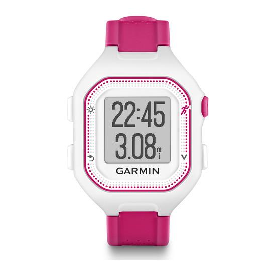GARMIN Forerunner 25 GPS Running Watch - Small, Pink & White