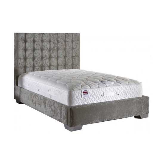 ValuFurniture Coppella Velvet Fabric Divan Bed Set - King Size - 5ft