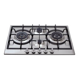 CDA HG7500SS Gas Hob Cast Iron Pan Support Stainless Steel Reviews