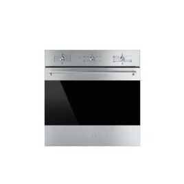 Smeg SF6341GVX Classic Gas Fan Oven With Electric Grill Stainless Steel With Dark Glass Reviews
