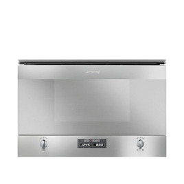 SMEG Cucina MP422X Built-in Compact Microwave with Grill - Stainless Steel