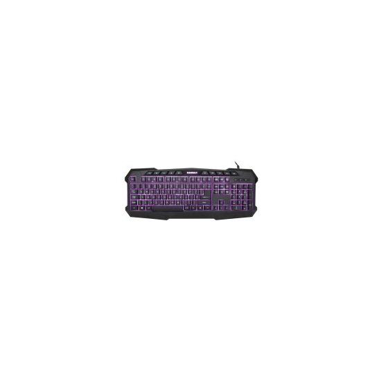 Game Max Typhoon Backlit Gaming Keyboard 3 Colour LED