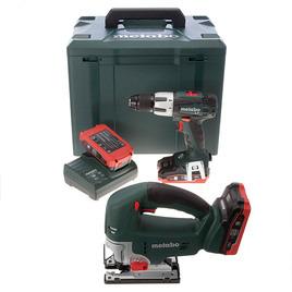 Metabo STA18LTX Jigsaw + SB18LT Combi Drill 18V LIHD Twinpack (3 x 3.1Ah) Reviews