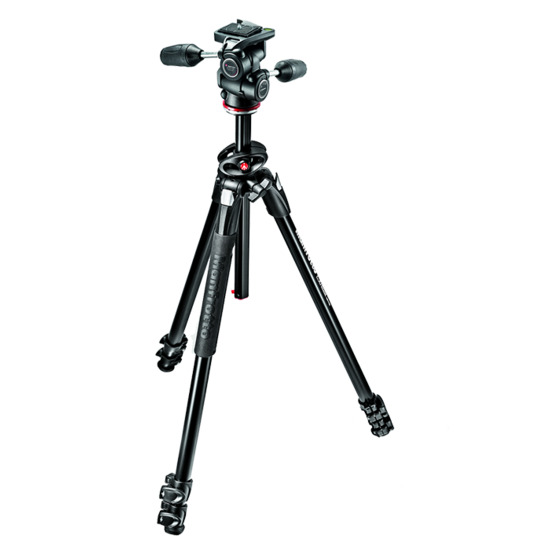 Manfrotto MK290DUA3-3W Aluminium Tripod with 3 Way Head