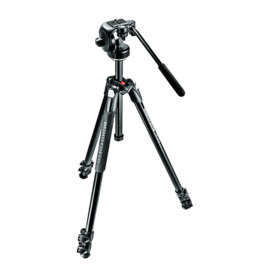 Manfrotto 290 Xtra Aluminium 3-Section Tripod with 128RC Fluid Head Kit