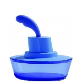 Alessi 'Ship Shape' Butter Dish with Spatula in Blue ASG13AZ Reviews