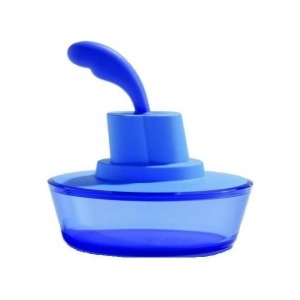 Photo of Alessi 'Ship Shape' Butter Dish With Spatula In Blue ASG13AZ Kitchen Accessory