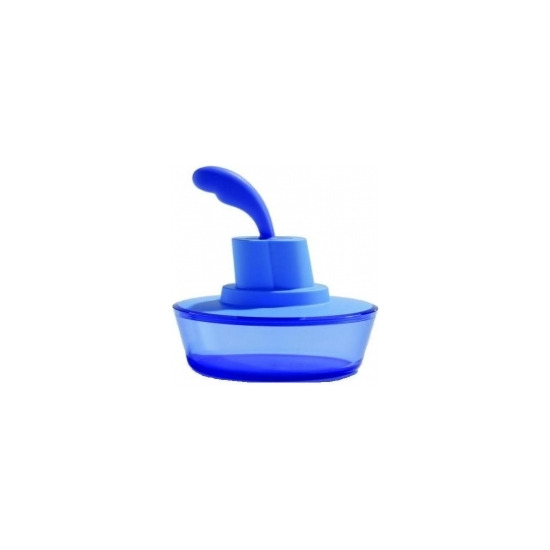 Alessi 'Ship Shape' Butter Dish with Spatula in Blue ASG13AZ