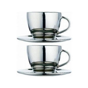 Photo of Dualit Cool Wall 85003 Pair Of Coffee Cups Dinnerware