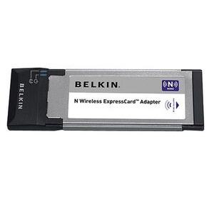 Photo of Belkin N Wireless ExpressCard Adapter - Network Adapter - ExpressCard - 802.11B, 802.11G, 802.11N (Draft) Wireless Card