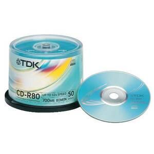 Photo of TDK CD R80CBA50 CD R