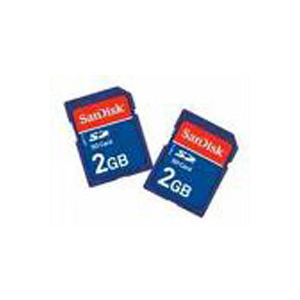 Photo of SanDisk - Flash Memory Card - 2 GB - SD Memory Card (Pack Of 2 ) Memory Card