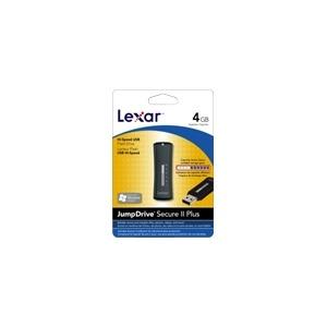 Photo of Lexar JUMPDRIVE Secure II Plus - USB Flash Drive - 4 GB - Hi-Speed USB USB Memory Storage