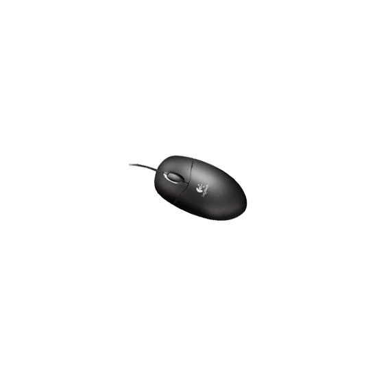 Logitech Optical Wheel Mouse - Mouse - optical - 3 button(s) - wired - USB - black - OEM