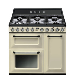 Victoria TR93P 90 cm Dual Fuel Range Cooker Cream Stainless Steel Reviews