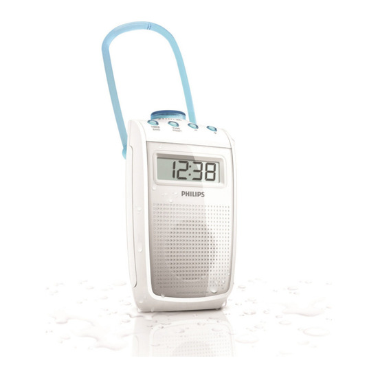 Portable Analogue Bathroom Radio - White