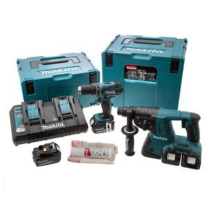 Photo of Makita DLX2069PMJ TWIN 18V LXT 2PC COMBO KIT Power Tool