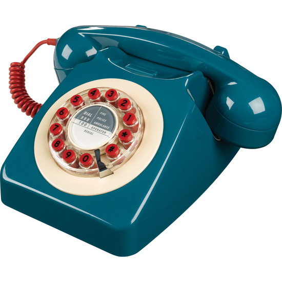 746 Corded Phone - Petrol Blue