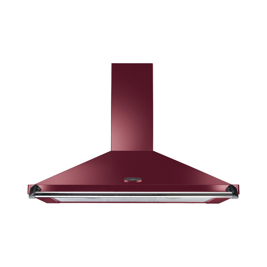 Rangemaster CLAHDC90CY/C Chimney Cooker Hood - Cranberry & Chrome