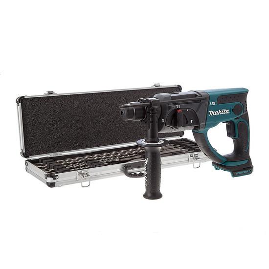 Makita DHR202Z 18V SDS Drill + D-21191 10 Piece Drill + Chisel Set