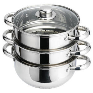 Photo of Stainless Steel 3 Tier Steamer Steam Cooker