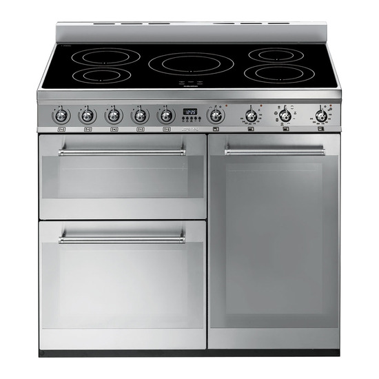 Symphony 90 cm Electric Induction Range Cooker Stainless Steel