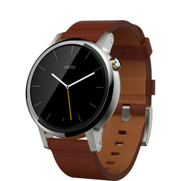 Moto 360 Smartwatch - Stainless Steel & Cognac Leather Reviews