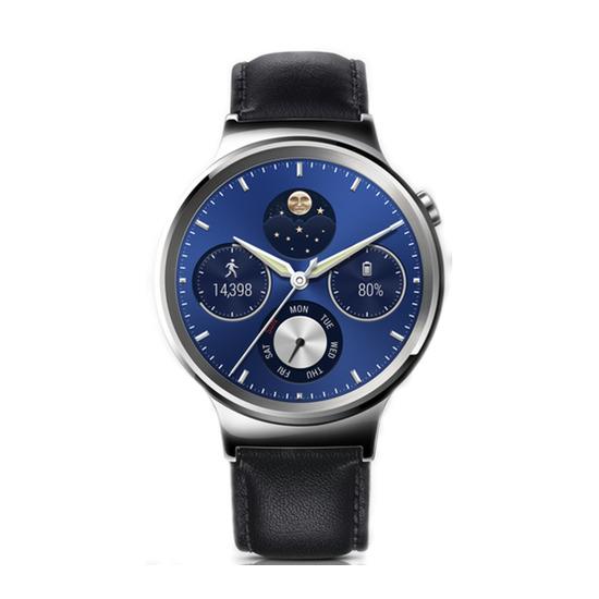 Classic Smartwatch - Black, Leather Strap