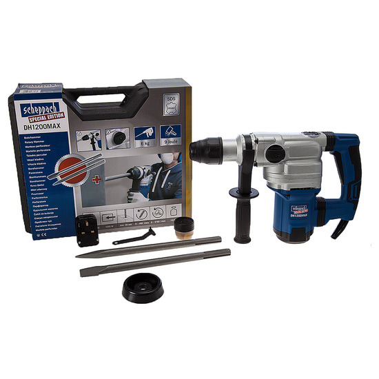 Scheppach DH1200MAX Rotary Hammer With SDS Max 240V