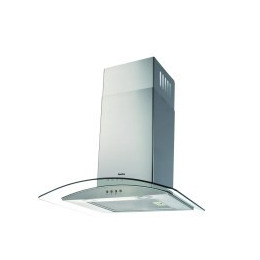 Amica OKP631G Curved Glass 60cm Chimney Cooker Hood Stainless Steel Reviews