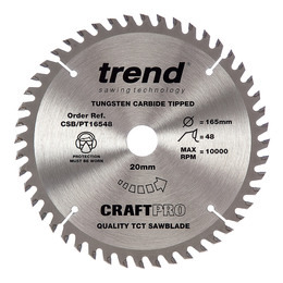 Trend CSB/PT16548 CraftPro Saw Blade 165mm x 48 Teeth x 20mm Reviews