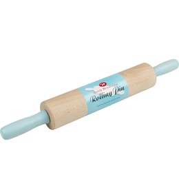 Revolving Rolling Pin - Blue & Natural Wood Reviews
