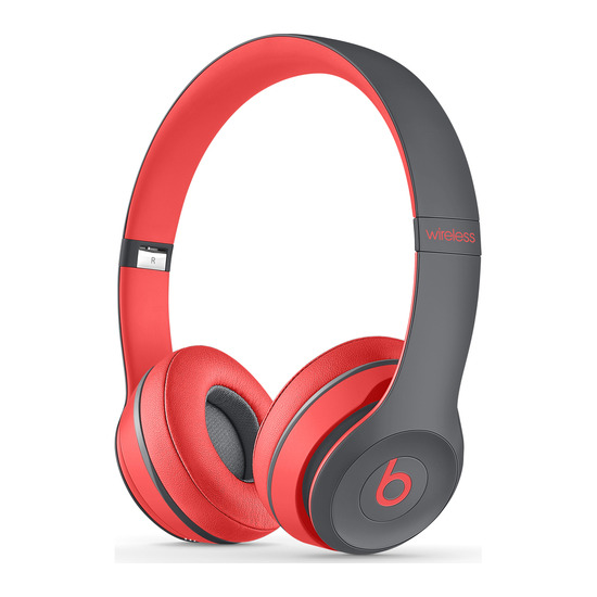 Beats by Dr. Dre Solo 2 Wireless Bluetooth Headphones - Red & Black