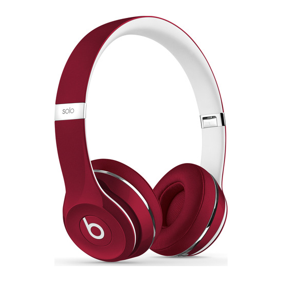 Beats by Dr. Dre Solo 2 Headphones - Luxe Edition Red