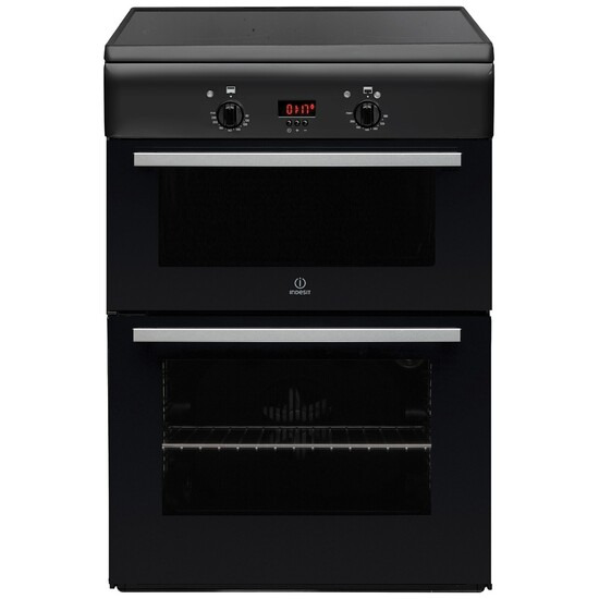 Indesit ID6IVS2A Cooker Freestanding Electric Double Oven Anthracite