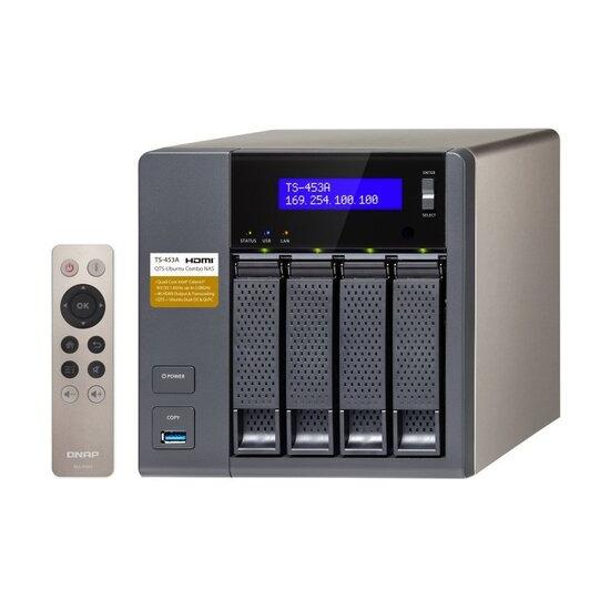 QNAP TS-453A-4G 4TB (4 x 1TB WD RED) 4 Bay NAS Unit with 4GB RAM
