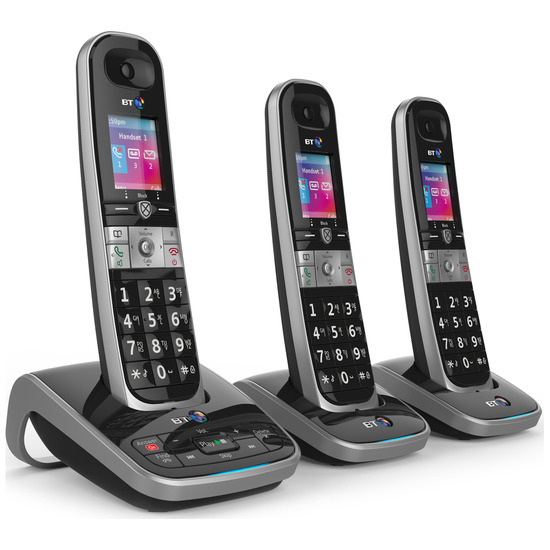 8610 Cordless Phone with Answering Machine - Triple Handsets