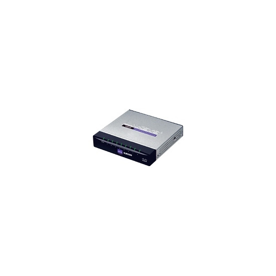 Linksys 8-Port 10/100/1000 Gigabit Smart Switch with PD and AC Power SLM2008 - Switch - 8 ports - EN, Fast EN, Gigabit EN - 10Base-T, 100Base-TX, 1000Base-T