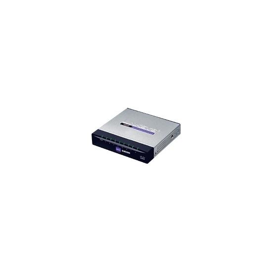 Linksys 8-Port 10/100/1000 Gigabit Smart Switch with PD and AC Power SLM2008 - Switch - 8 ports - EN, Fast EN, Gigabit EN - 10Base-T, 100Base-TX, 1000Base-T