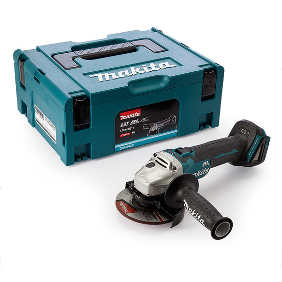 Makita DGA504ZJ1 Angle Grinder 18V Cordless 125mm (Body Only)with Makpac Case