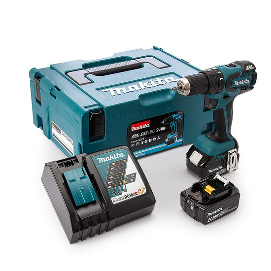 Makita DHP459RMJ 18v Cordless li-ion 13mm Brushless 2-speed Combi Drill 2 x 4Ah